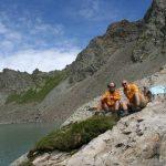 Afien & Maarten bij het Lac de L'Eychauda