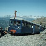 De Tramway du Mont Blanc boven bij Nid d'Aigle