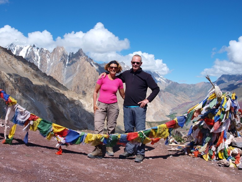Afien & Maarten op de Dungduncheng La (4710 meter)