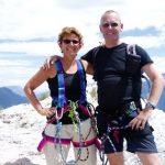 Afien en Maarten op de top van de Cima SAT