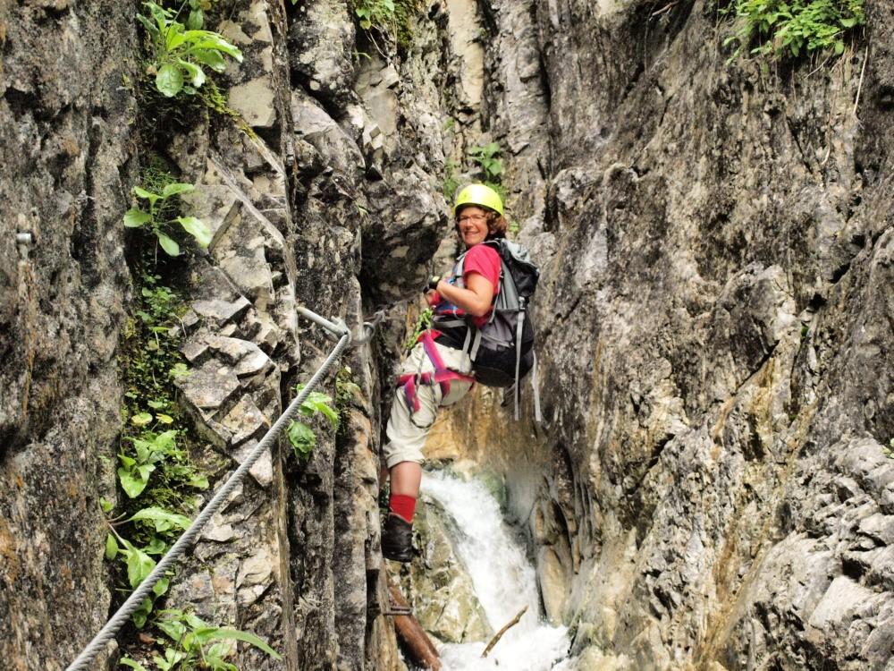 Afien in de de Röbischlucht klettersteig