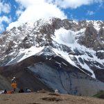 Afien op de Konzke La (4890 meter)