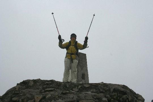 Afien op de top van de Ben Nevis