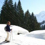 Afien voor de ingesneeuwde Materialseilbahn naar de Stierhofalpe