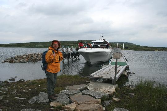 Afien voor de veerboot Halnekongen bij Seipa