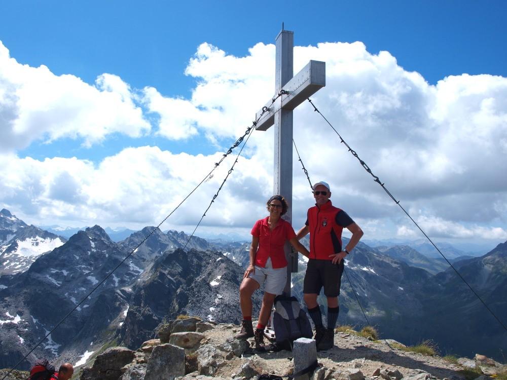 Bij het topkruis op de Hochmaderer