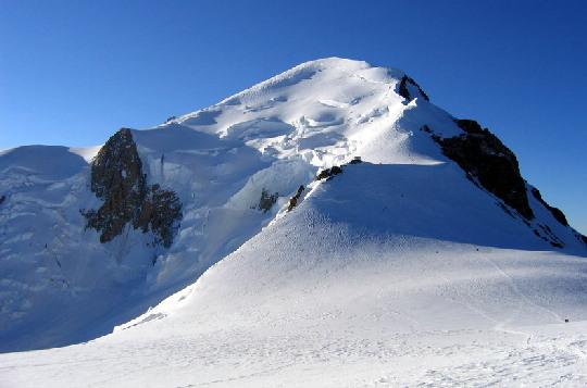 De Bossesgraat, de normaalroute naar de top van de Mont Blanc