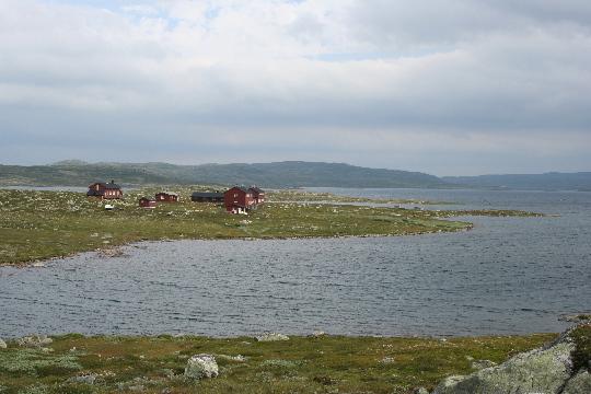 De Kraekkja hut aan het water
