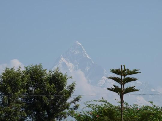 De Machhapuchhare vanuit Pokhara