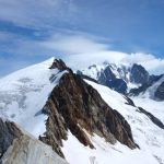 De steile afdaling vanaf de Dôme de Miage
