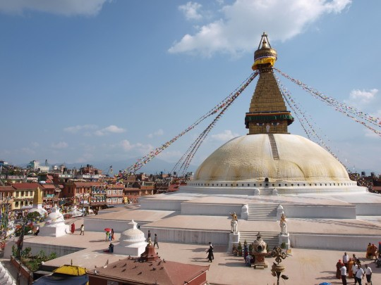 De stupa van Bodhnath