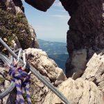 Doorkijkje op de Hindelanger klettersteig