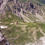 Fiderepass hütte vanaf de Mindelheimer klettersteig