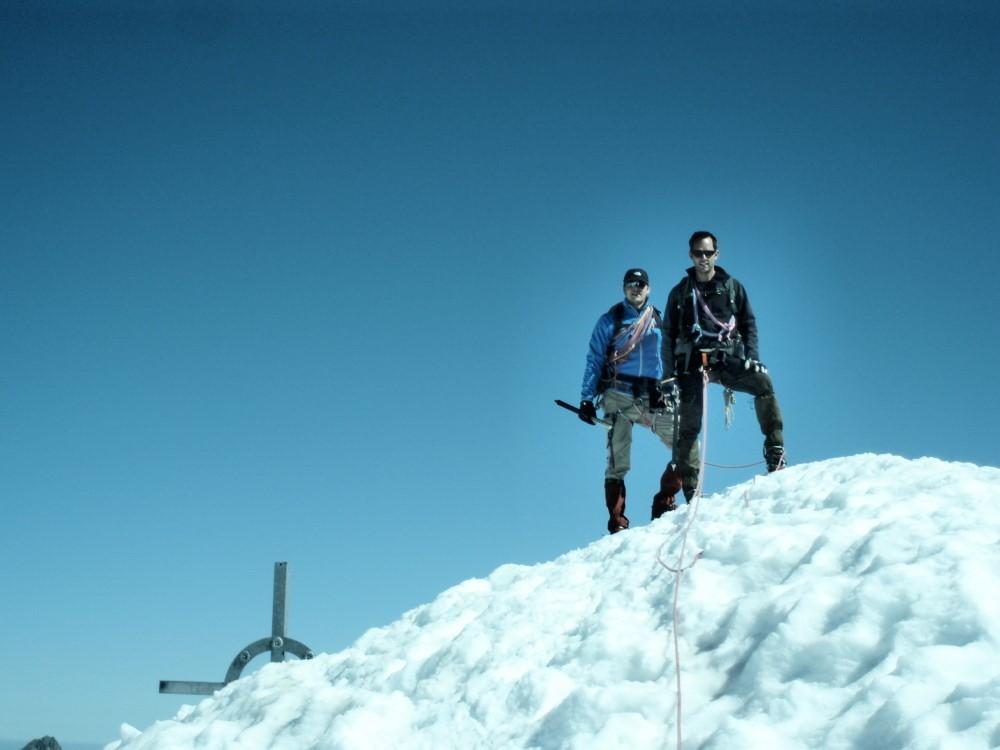 Heren Baars en Later op de top van de Fluchtkogel.
