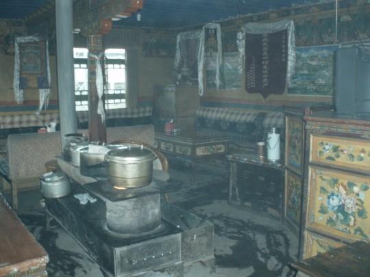 Het theehuis in Shegar