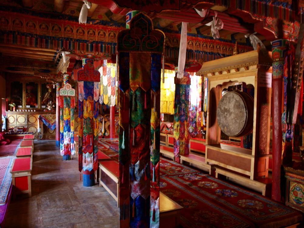 In het klooster van Lamayuru