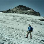 Jori op de Jamtalgletsjer met op de achtergrond de Gemsspitze