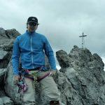 Jori op de top van de Dreilanderspitze