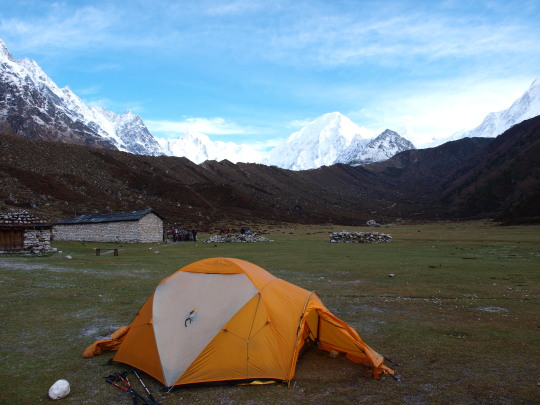 Kamp in Bimthang