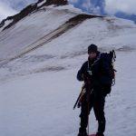Kees aan de voet van de Wildspitze op sneeuwschoenen