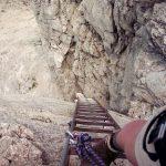Ladder op de Hindelanger klettersteig