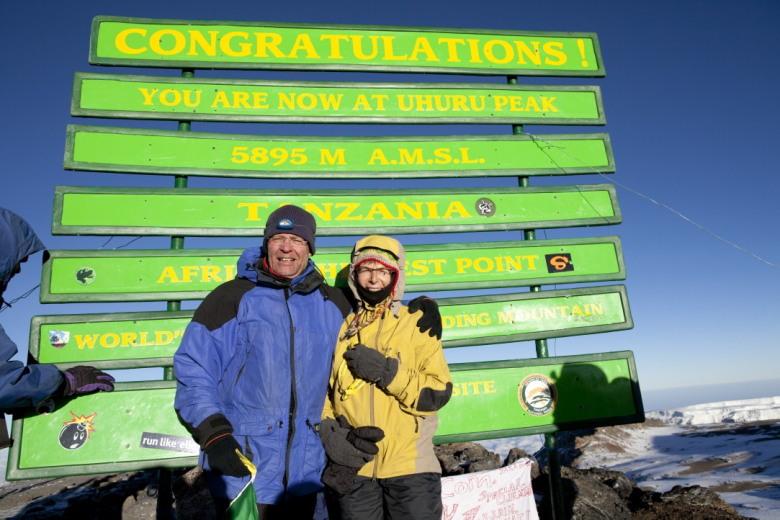 Maarten & Afien op de top