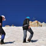 Maarten & Tineke op weg naar de top van de Oberaarhorn