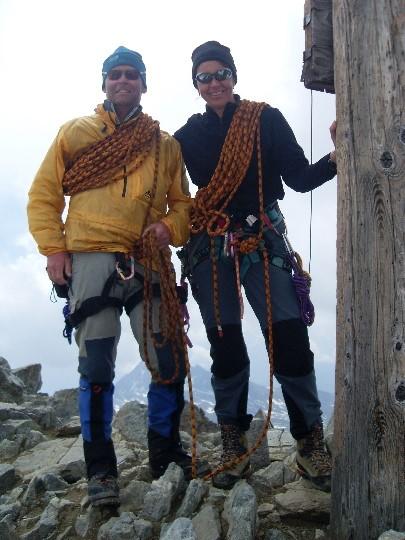 Maarten en Tineke op de top van de Piz Buin