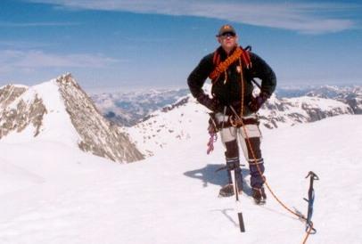 Maarten op de top van de Pigne d'Arolla