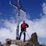 Maarten op de top van de Wildspitze