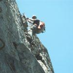 Marcel in de Zweiländer-Kanzelwand klettersteig