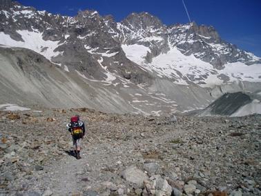 Naar de Haute glacier d'Arolla