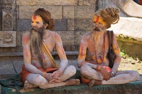 Sadhu's (heilige mannen) bij Pashupatinath