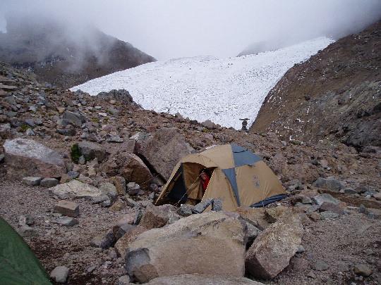 Tent bij Austriahut