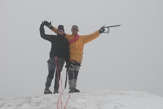 Tineke en Maarten op de top van de Pigne