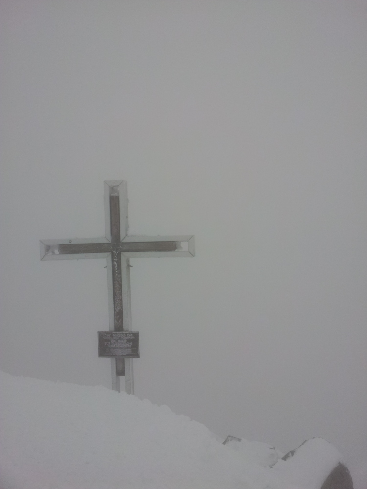 Topkruis GrossVenediger in de sneeuw