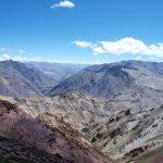 Uitzicht naar het oosten vanaf de Dungduncheng La (4710 meter)