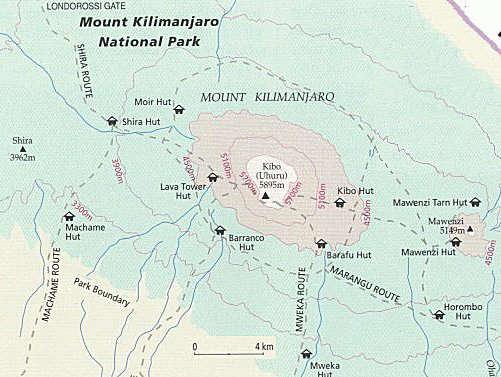 trekkingtochten naar de kilimanjaro