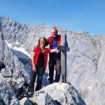 Afien & Maarten op de top van de Schartenspitze