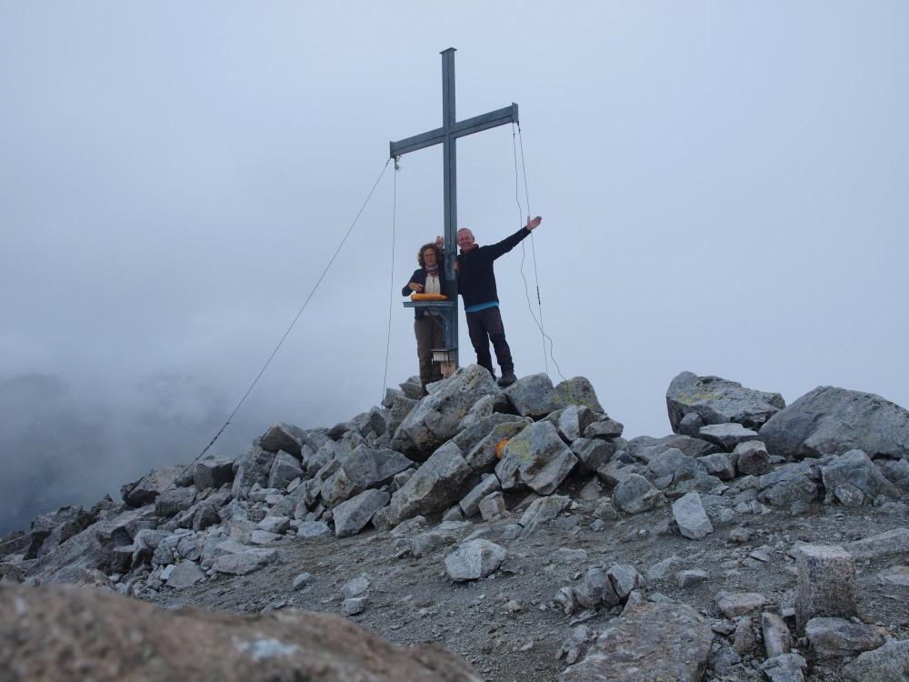 Afien & Maarten op de top van de Almenhorn