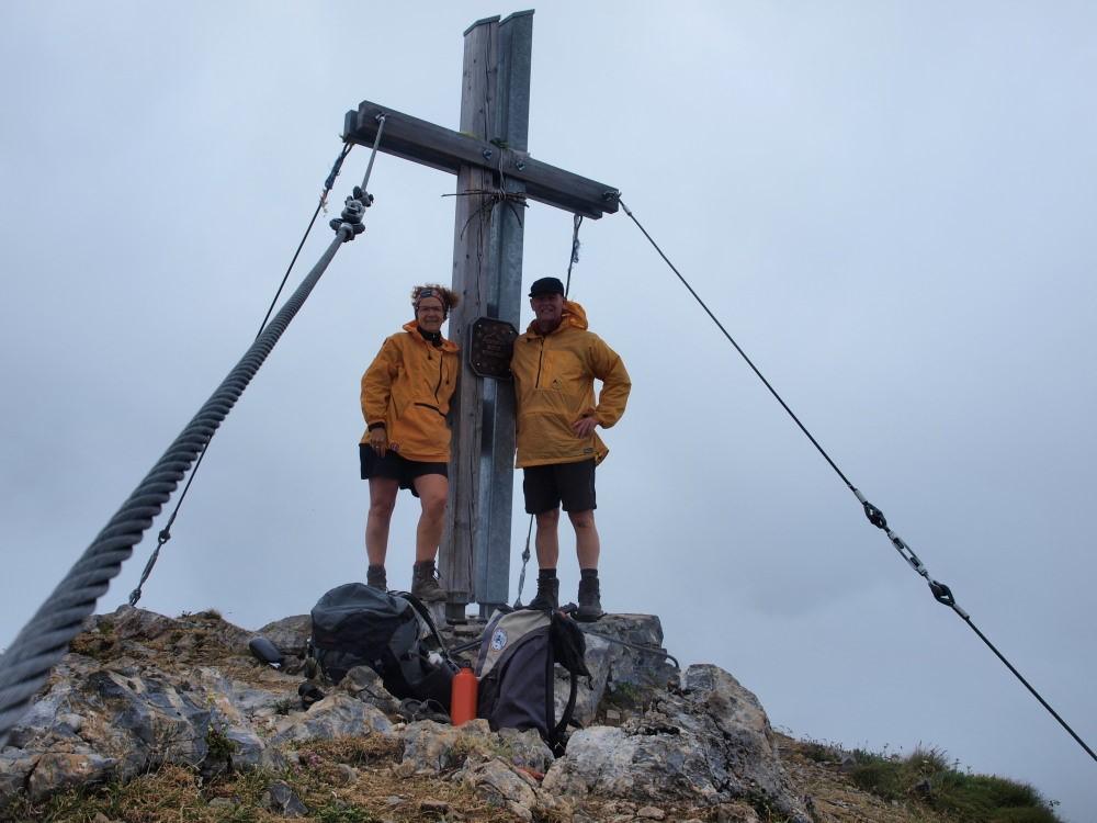 Afien & Maarten op de Rauchkofel (2460 meter).