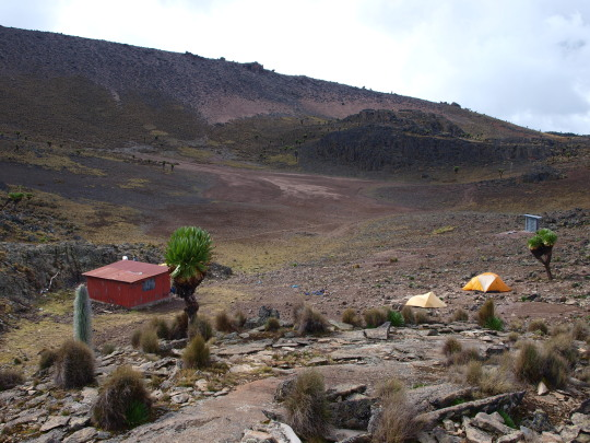Mintos hut en ons kamp