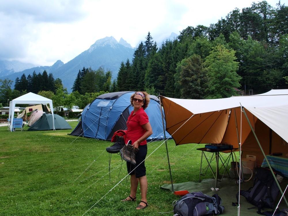 De Schartenspitze vanaf de camping, het verste puntje