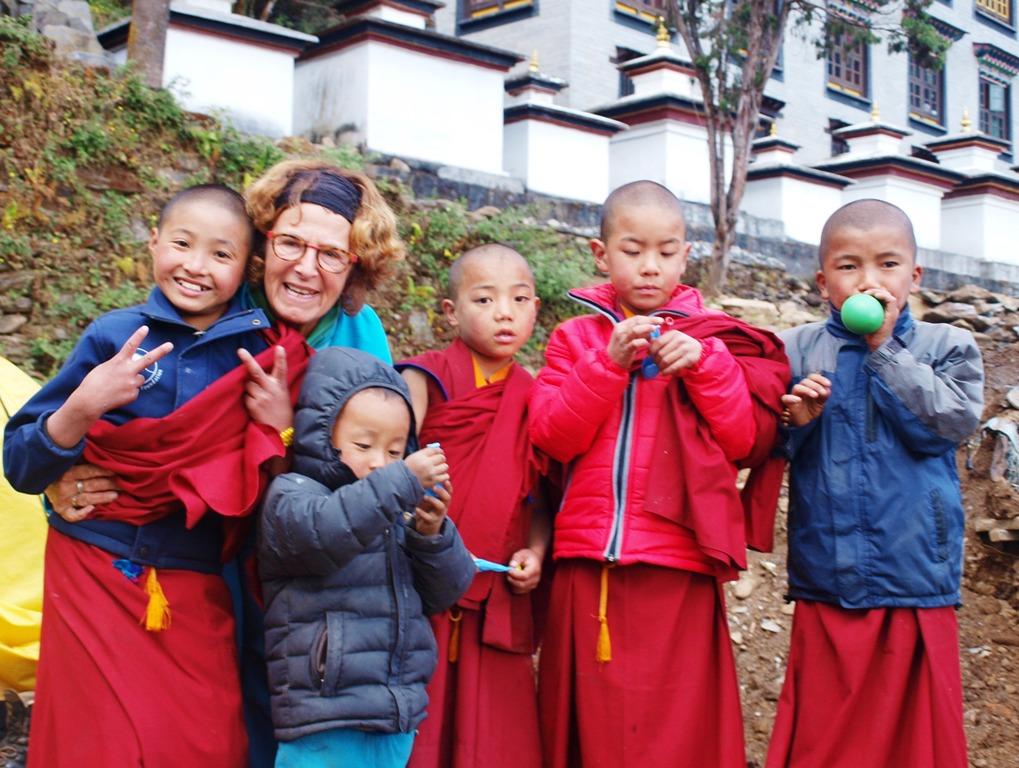 Kinderen in het Thupten Choling klooster
