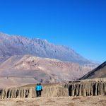 Uitzicht op Mustang onderweg naar Muktinath