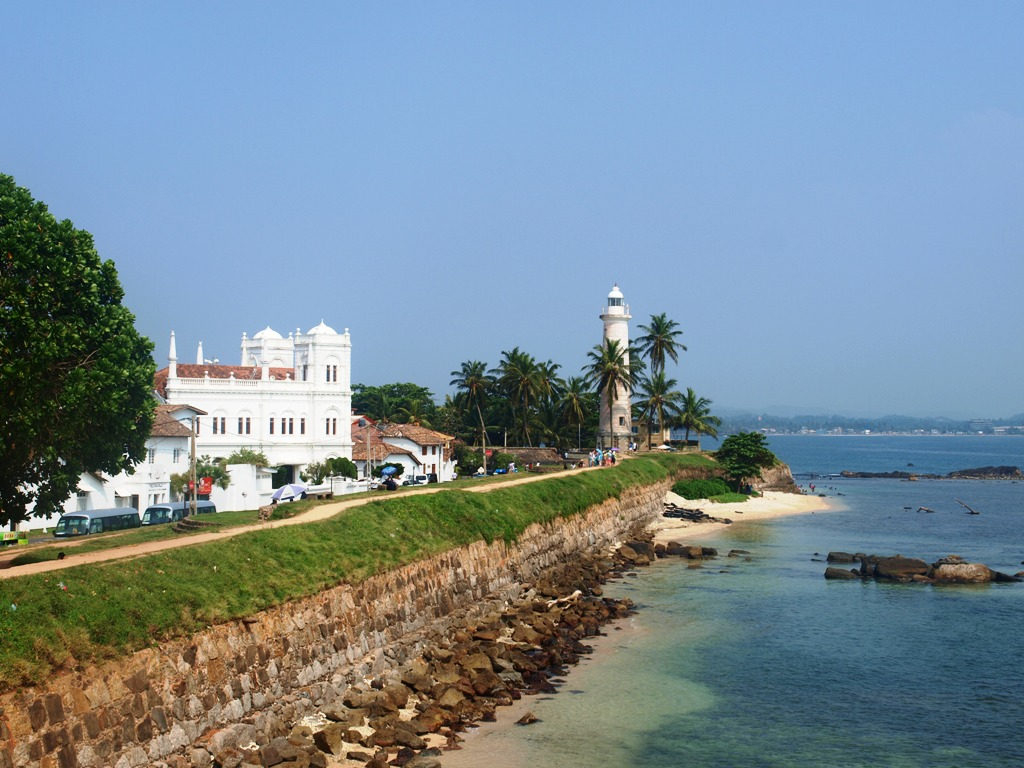 Lighthouse en moskee fort Galle
