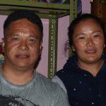 Pasang met zijn vrouw