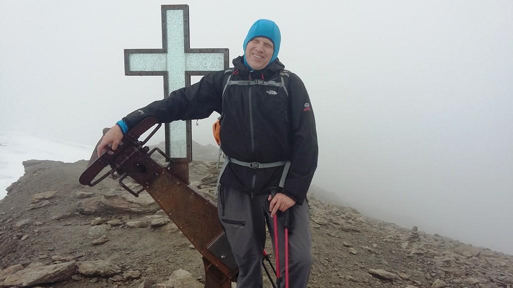 Herman op de top van de Suldenspitze